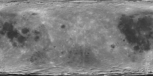 Moon texture map