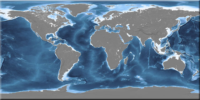 Earth ocean depth texture map