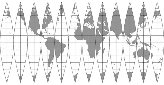 sphere net template - map projections sinusoidal interrupted planetary